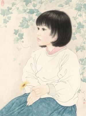 一纸凝芳:余宏达现代女性工笔画作品展开幕