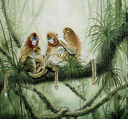 吕维超动物系列绘画作品展出