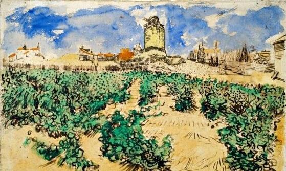 《Le Moulin d'Alphonse Daudet à Fontvieille》   一幅梵高的风景画将在沉寂100余年后首次展出,在此之前发现了这幅画属于这位艺术家的关键证据。在画作的后面,有两个手写的潦草的数字,虽然它们的意义重大,但是一直以来都被忽略。在梵高弟弟提奥的妻子Johanna草拟的两份其作品清单中,有着与这些数字精确一致的纪录。   1891年,就在梵高逝世后几个月,Johanna也成为了寡妇,但她对梵高艺术的兴趣一直不减。尽管她可能从未意识到这些作品如今